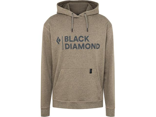 Black Diamond Stacked Logo Hættetrøje Herrer, beige